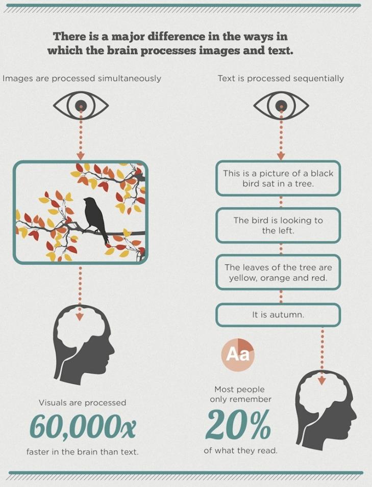 text vs infographic