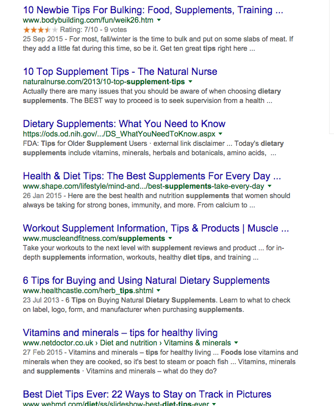 Search results - food suplements