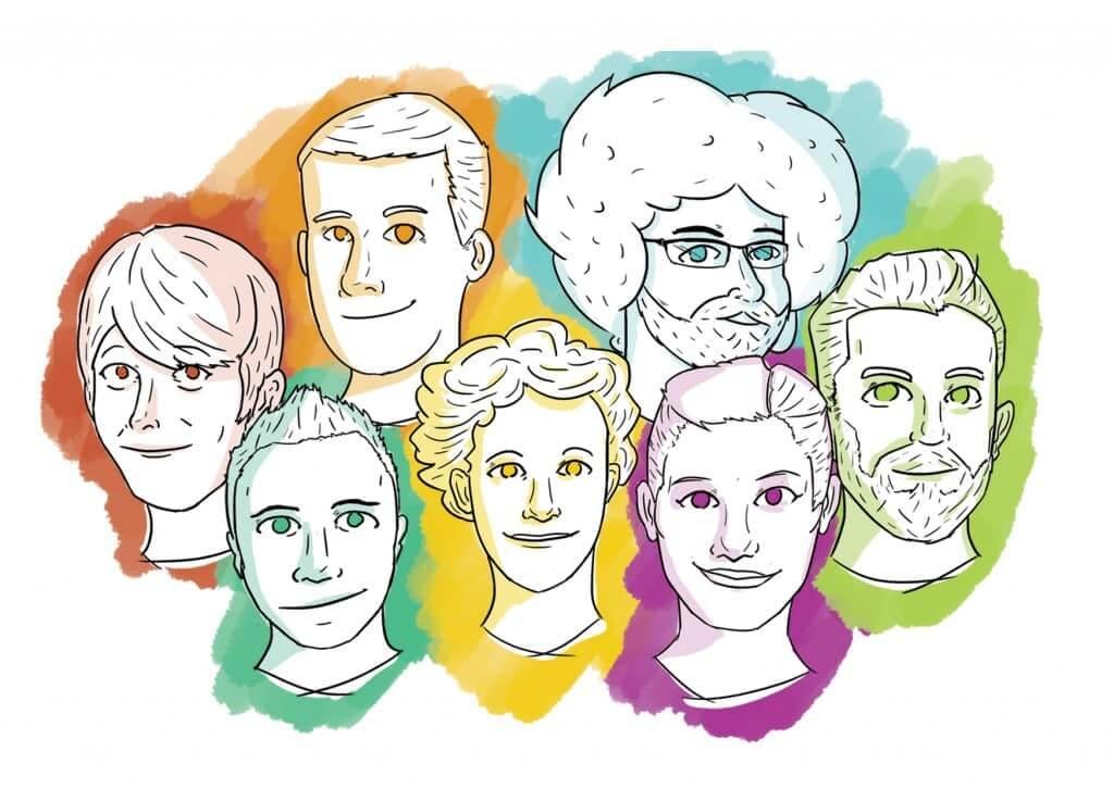 neomam full team illustration