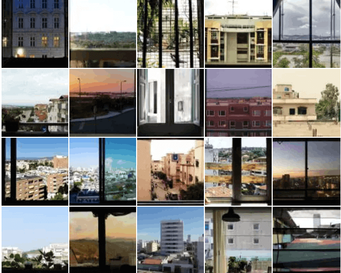 Moving photos taken from windows around the world.