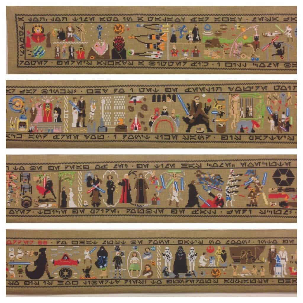 Star Wars Recreated In Cross Stitch Tapestry