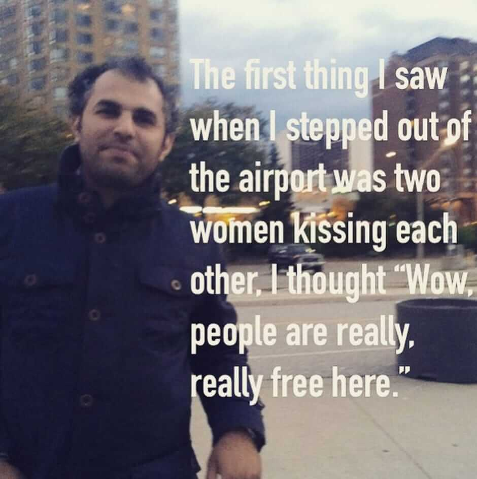 15 immigrants give their first impressions of America.