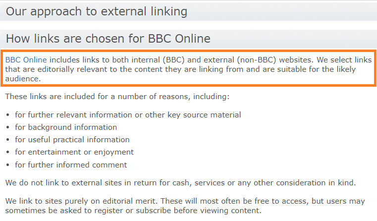 BBC-linking-policy