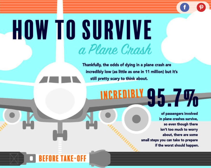 how to survive plane crash infographic